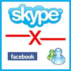 Skype Desvincular Skype Messenger