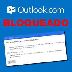 outlook.com bloqueado temporariamente desbloquear