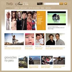 Site novela Amor à Vida