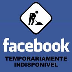 Conta Facebook temporariamente indisponível
